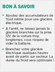 conseil glacière
