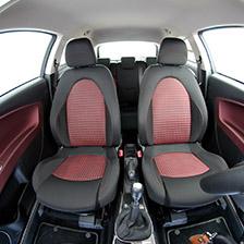 saferide Polyester Rouge 1+1 Housse de Siege Voiture Avant Protection Auto sur Mesure Protecteur Accessoires Interieur