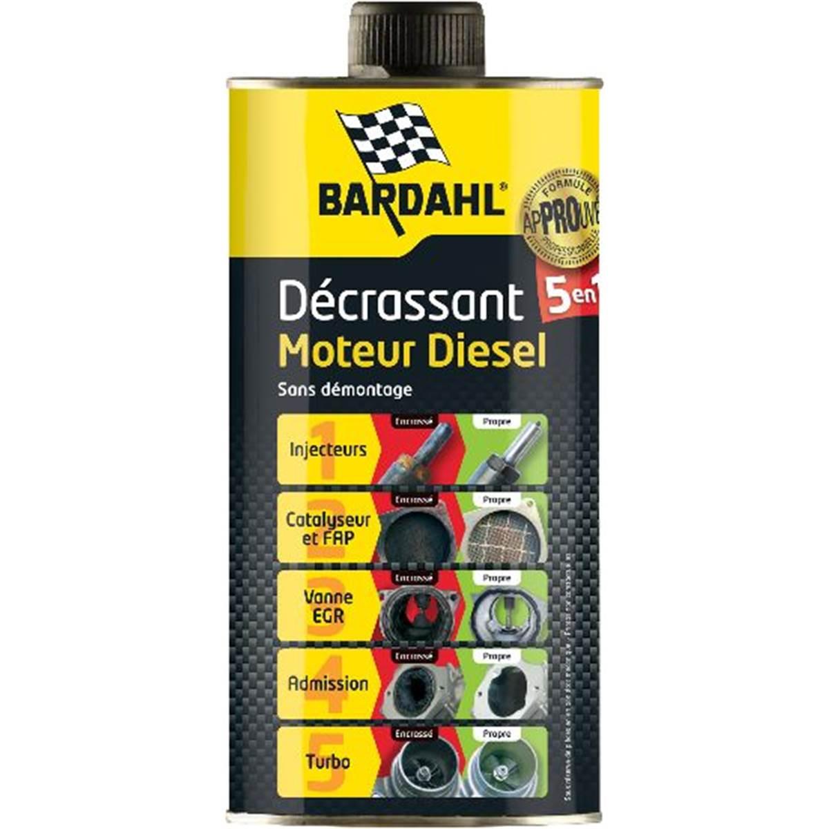 Décrassant moteur 5 en 1 Diesel Bardahl 1 L