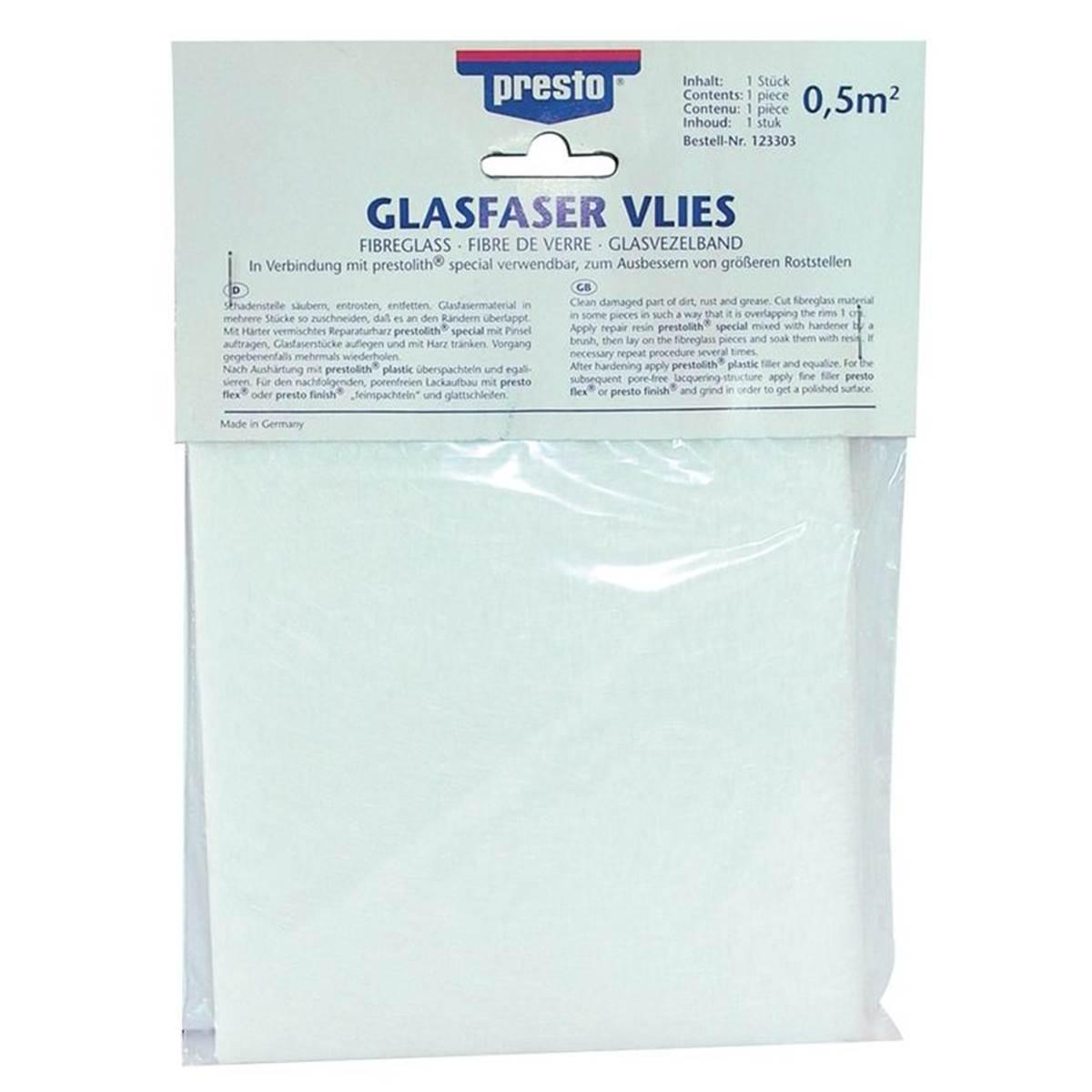 Fibre de verre tissage fin Presto 0,5 m²