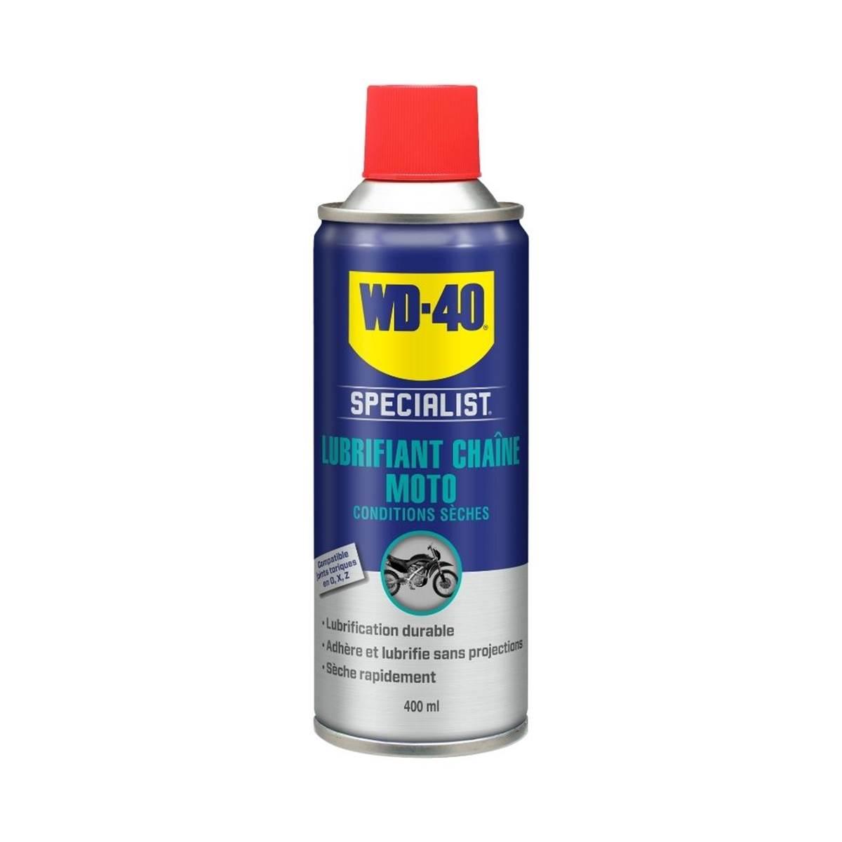 Lubrifiant Chaîne Conditions Sèches WD-40 Specialist Moto 400 ml