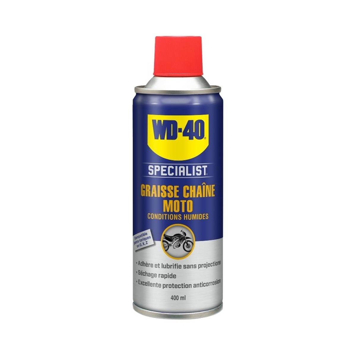 Graisse chaîne moto conditions humides WD40 400ml