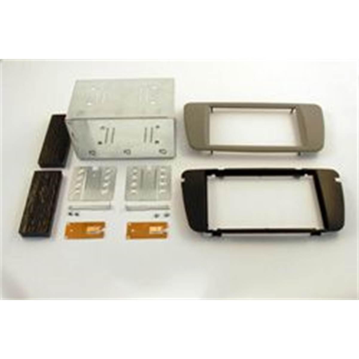 Support Décor double DIN (gris clair) Autoradio spécial SEAT IBIZA 2 08>