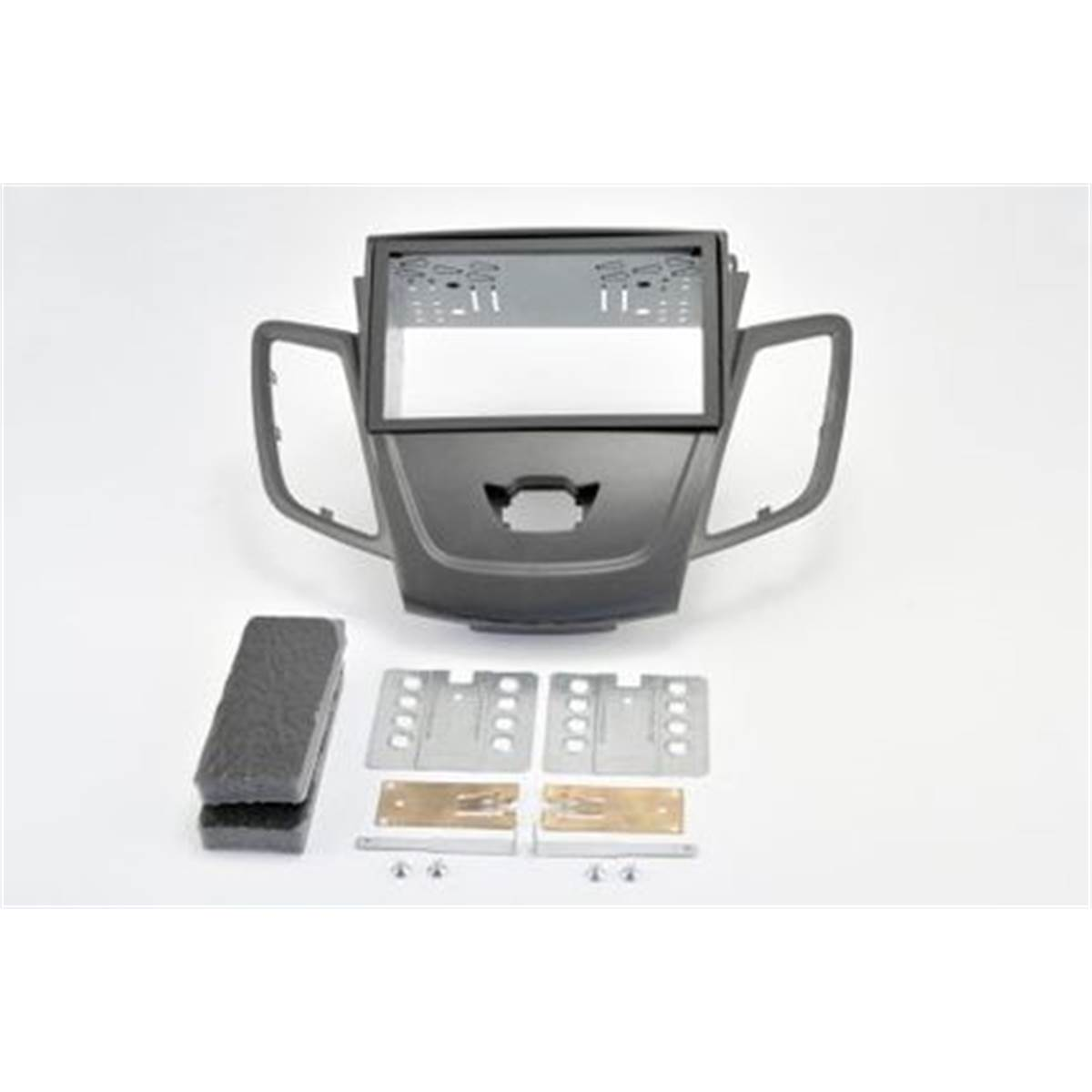 Support autoradio double DIN gris métal FORD FIESTA 2008>