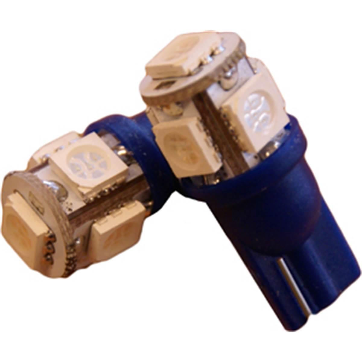 2 ampoules led T10 (9 pastilles smd5050) bleu Autoled