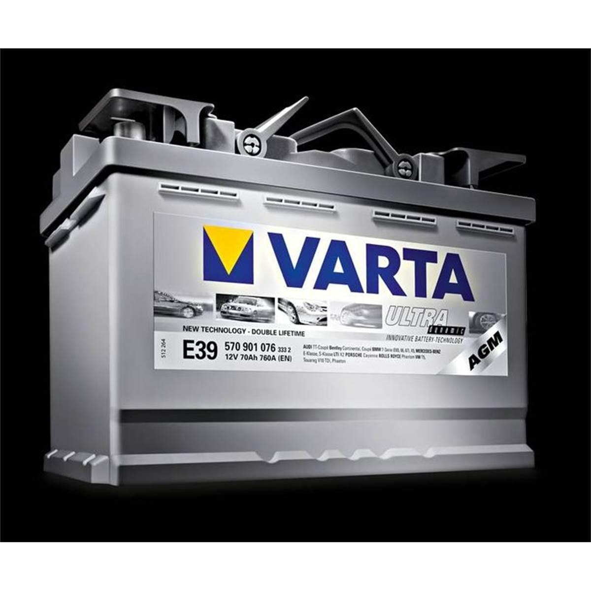 Batterie voiture Varta Start&Stop AGM E39 70Ah 760A