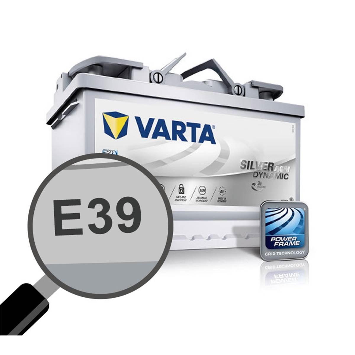 Batterie voiture Varta Start & Stop AGM E39 - 70Ah / 760A - 12V