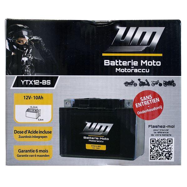 batterie moto et scooter ytx12 bs feu vert
