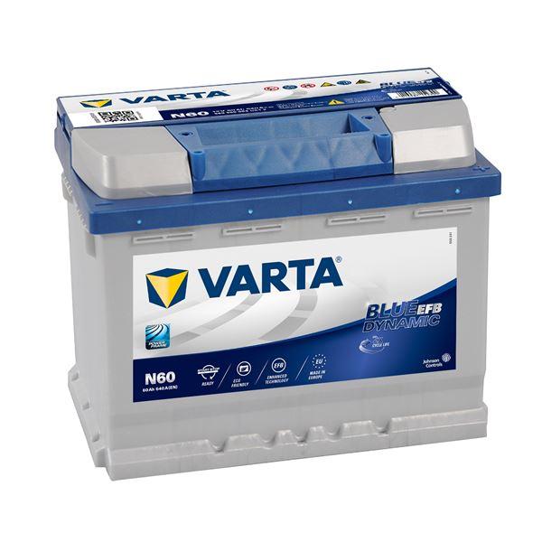 BATTERIE VARTA START STOP EFB N60 12V 60AH 640A Batteries