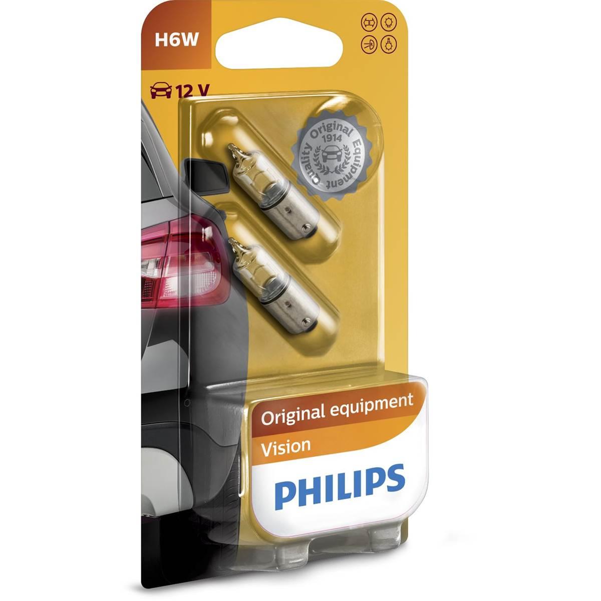 2 ampoules Philips premium Vision H6W