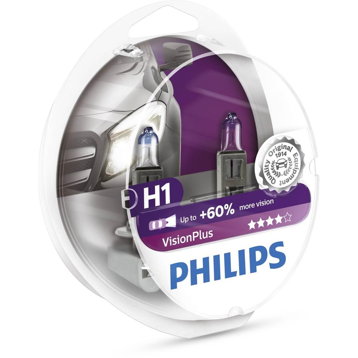 2 ampoules Philips premium Vision Plus H1