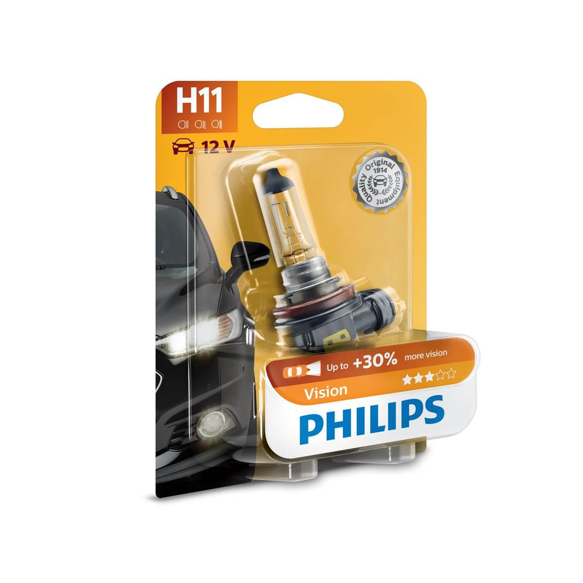 1 ampoule Philips premium Vision H11