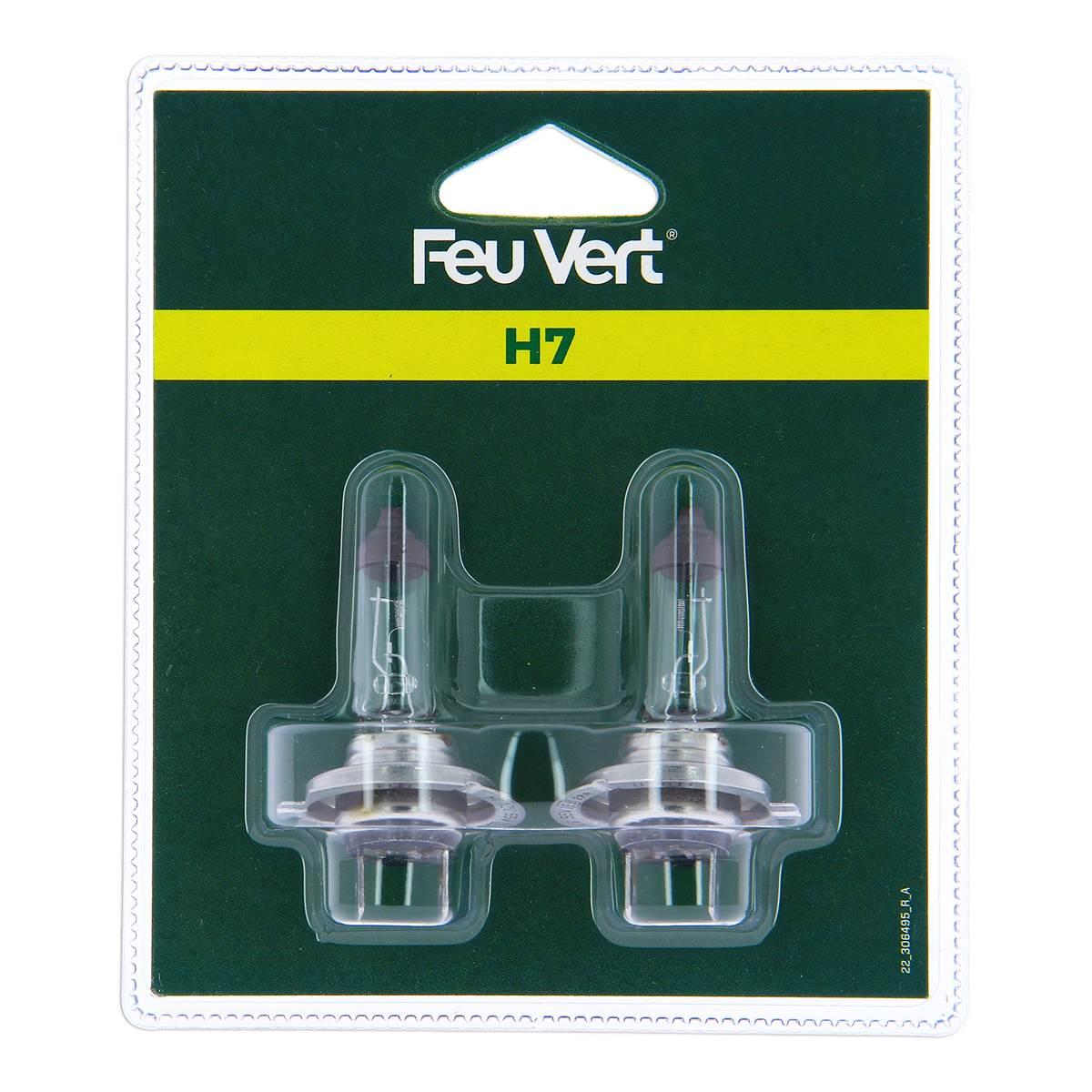 2 ampoules Feu Vert H7
