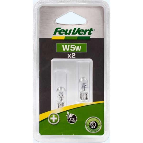 2 Ampoules Feu Vert W5W - Feu Vert