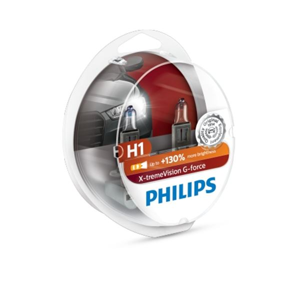 2 ampoules Philips premium Vision Plus H1 Feu Vert