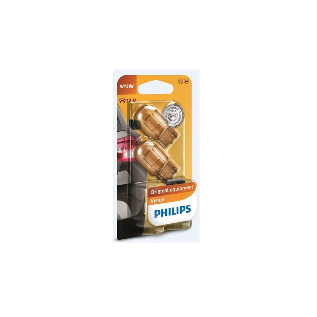 2 ampoules Philips premium Vision WY21W