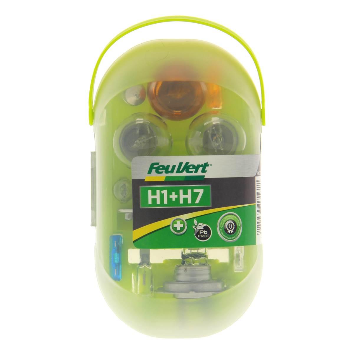 Coffret d'ampoules H1/H7 Feu Vert
