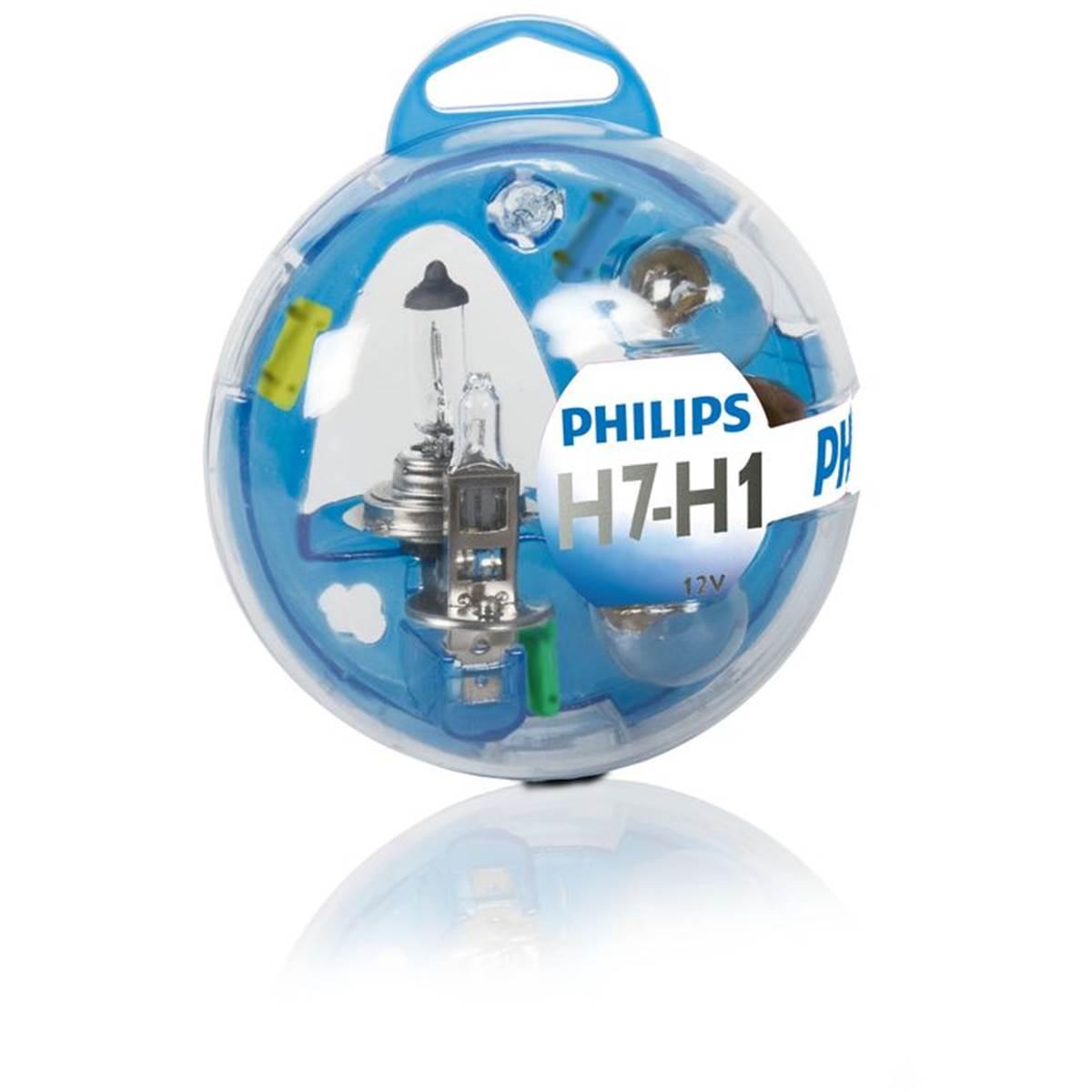 Coffret d'ampoules Philips premium H1+H7