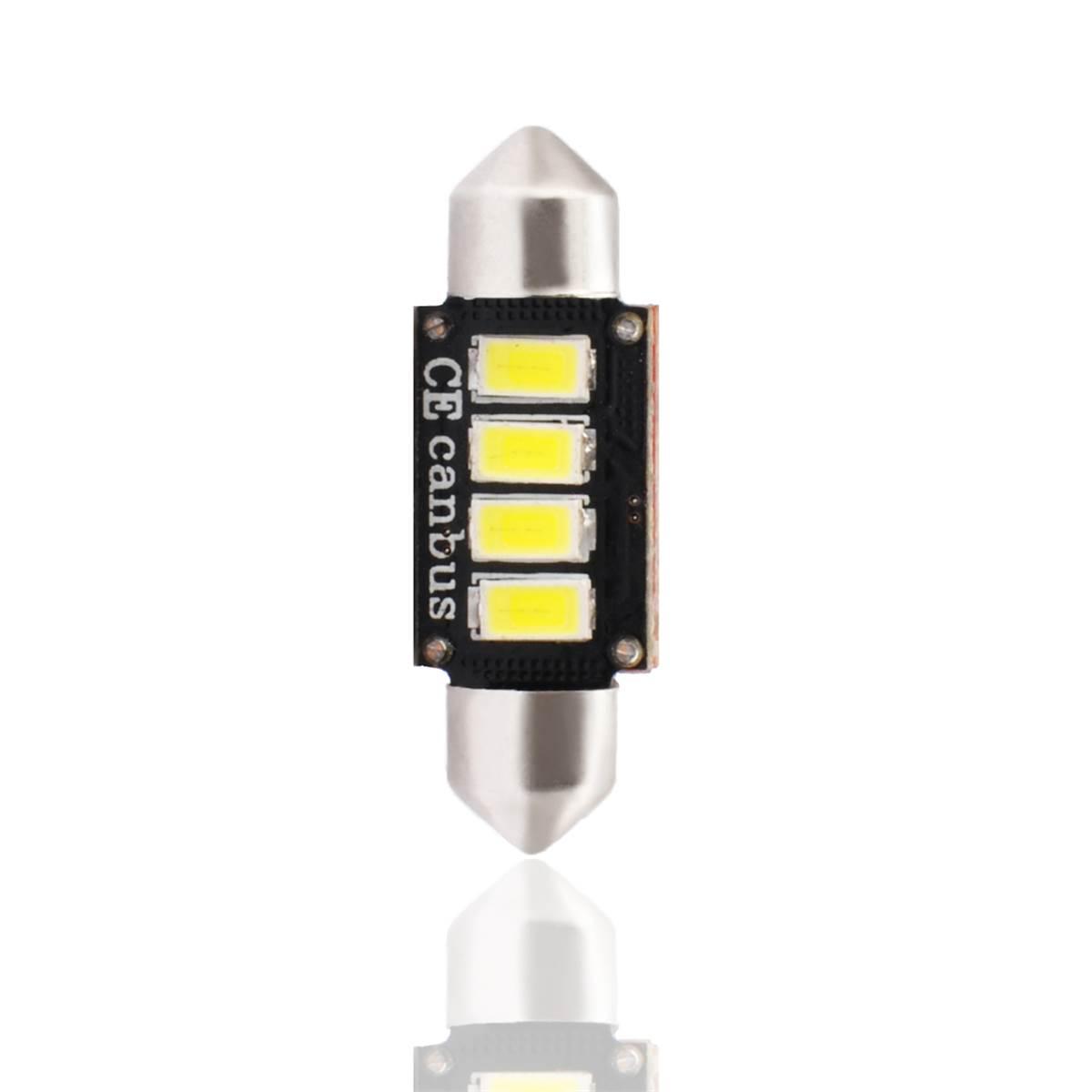 2 ampoules navette à LED CANBUS blanc 36 mm
