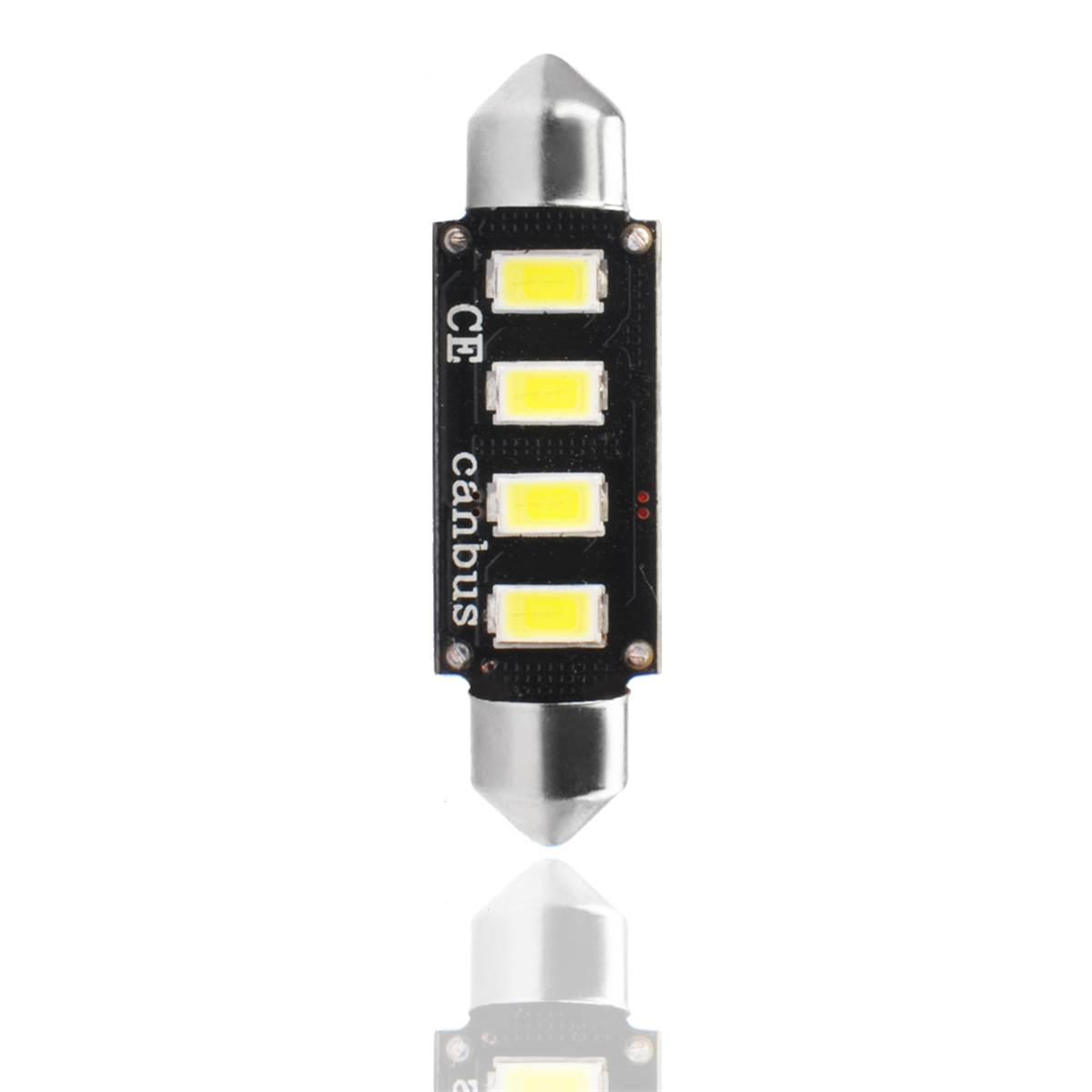 2 ampoules navette à LED CANBUS blanc 42 mm