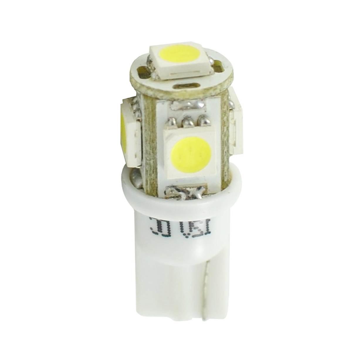2 ampoules T10 avec 5 LED blanche