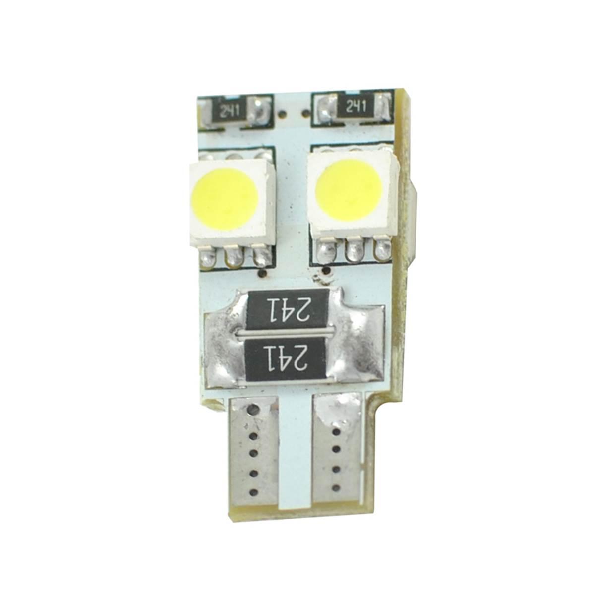 2 ampoules T10 avec 4 LED blanche
