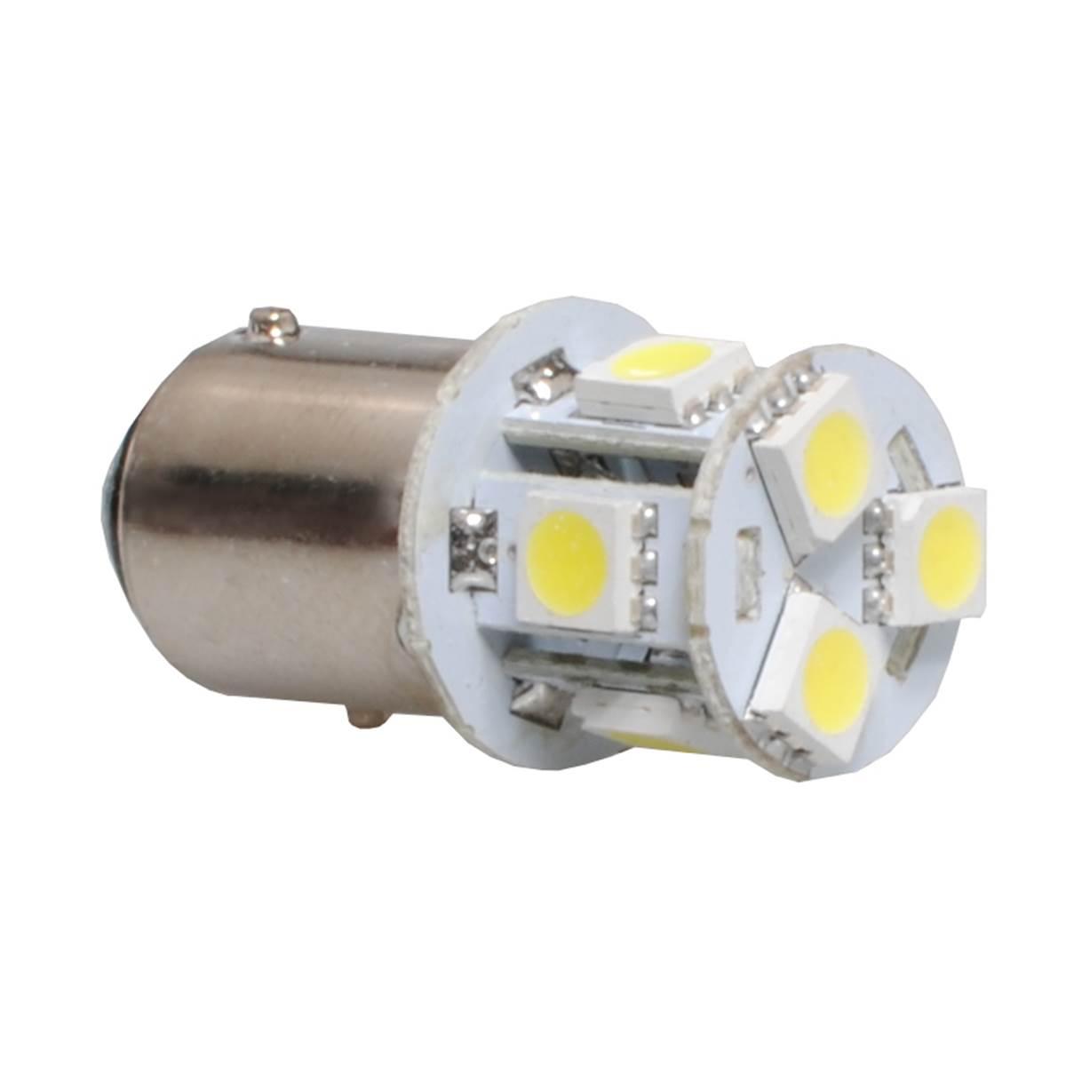2 ampoules BA9S avec 8 LED blanche
