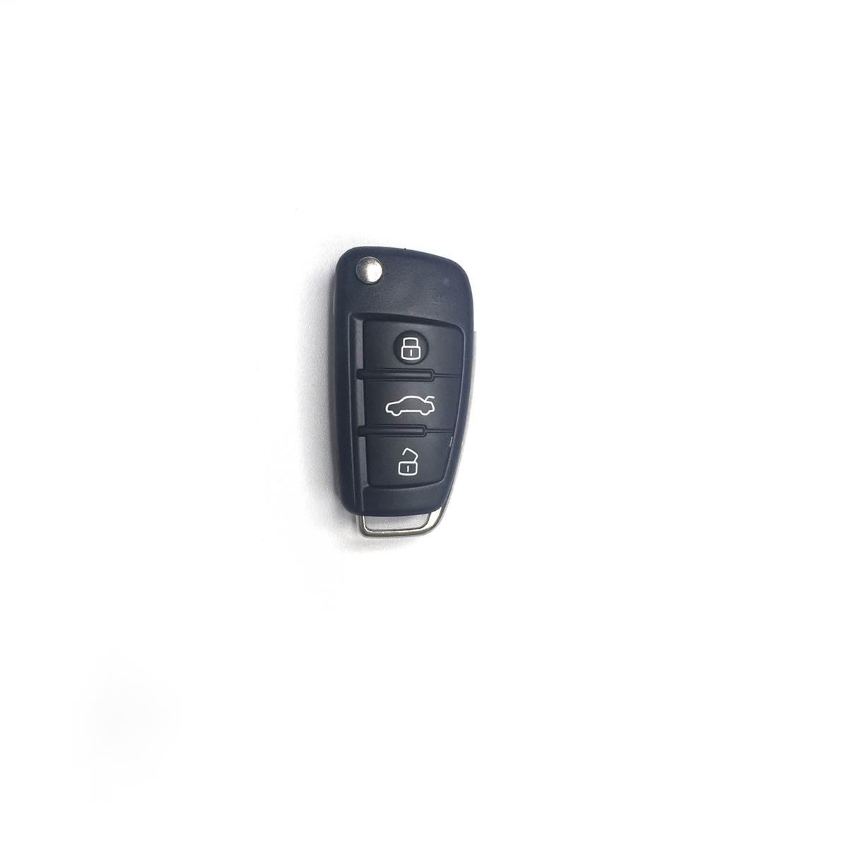 Coque de clé adaptable pour Audi, 3 boutons