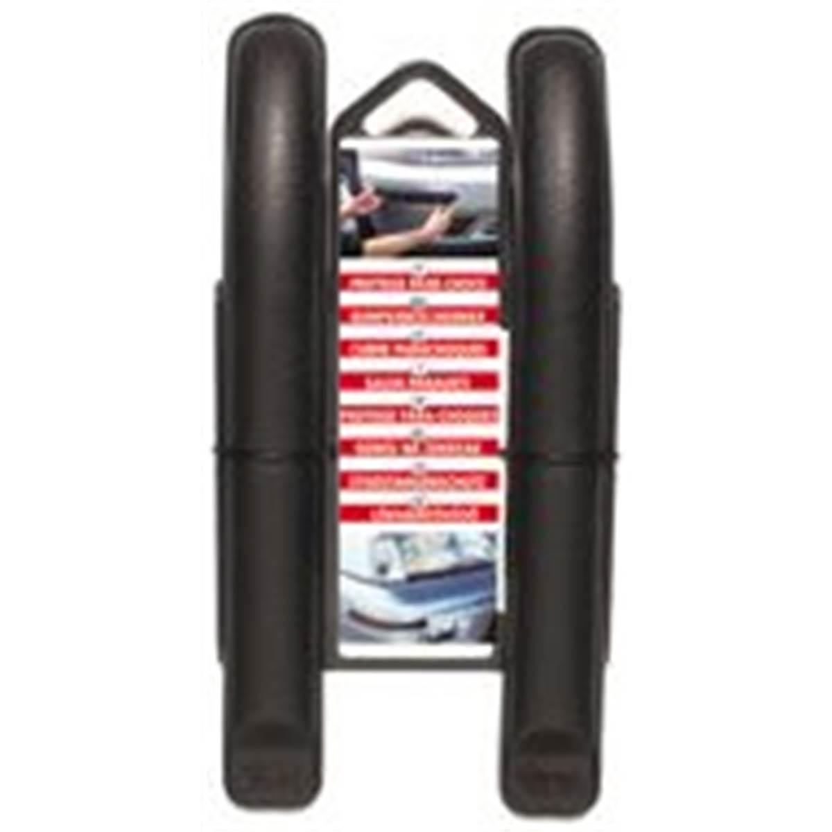 2 Protections de pare-chocs incurvées noires 21 cm
