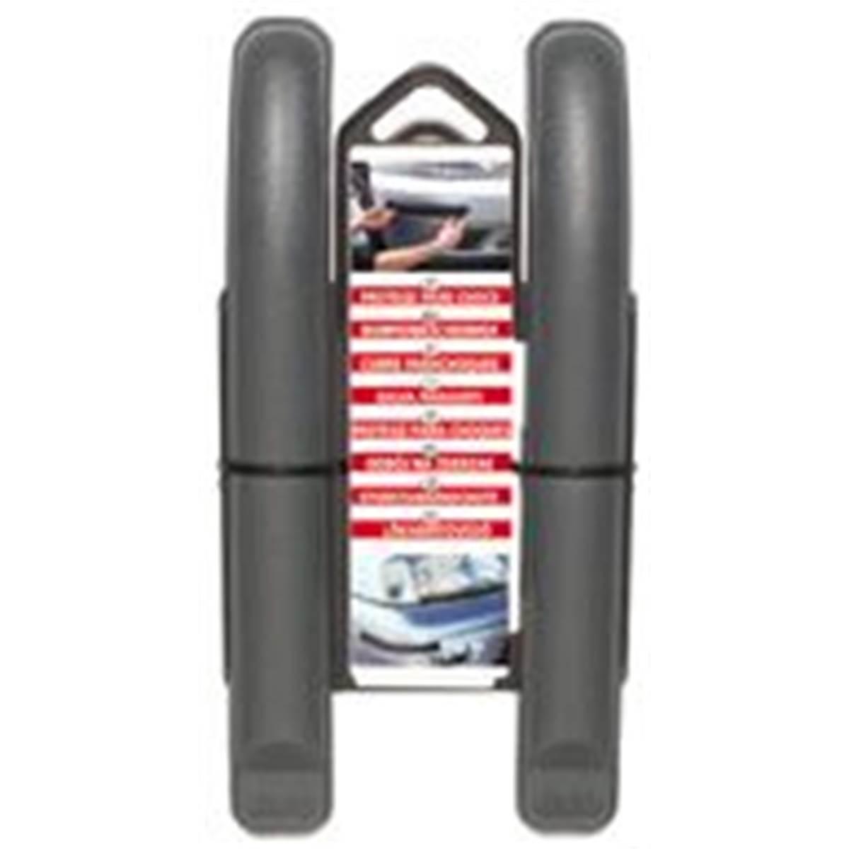 2 Protections de pare-chocs incurvées grises 21 cm