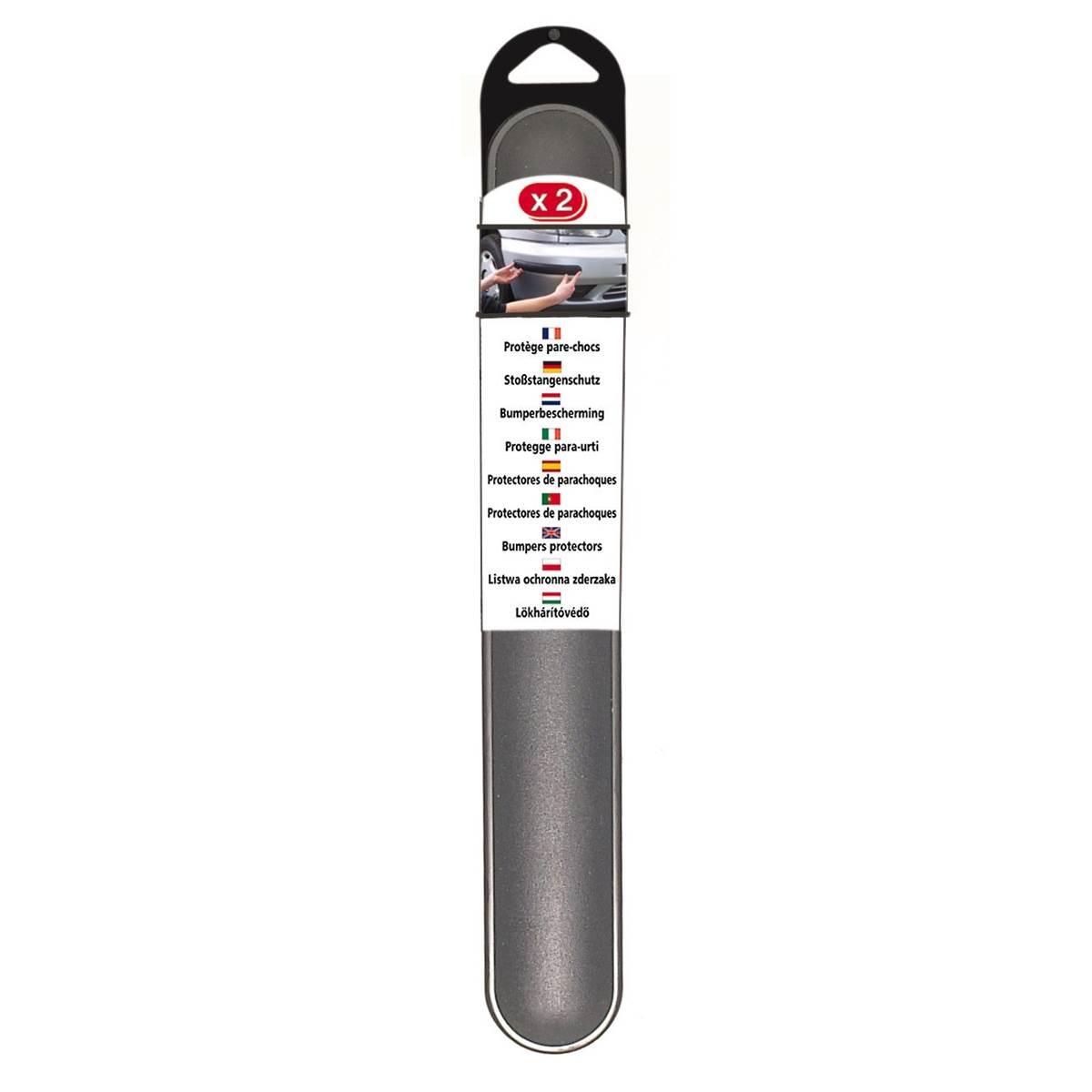 2 Protections de pare-chocs grises 37 cm