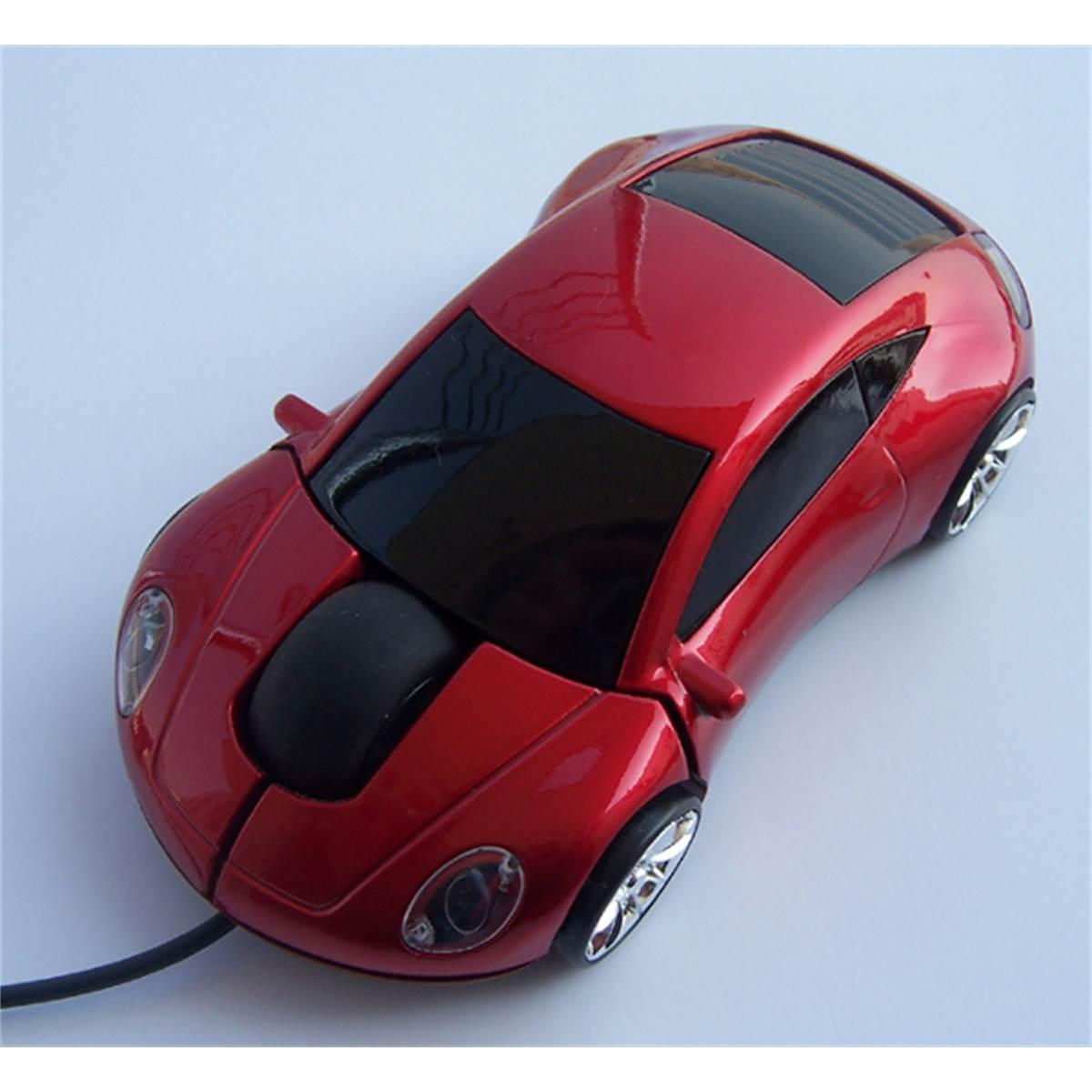 Souris optique filaire USB voiture rouge RD Innovation