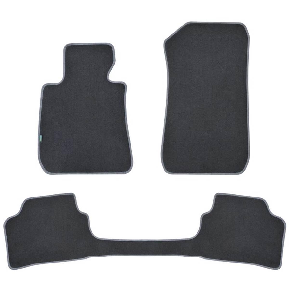 3 tapis avec pont SUR MESURE pour BMW Série 3 E90 & break E91 Feu Vert Premium
