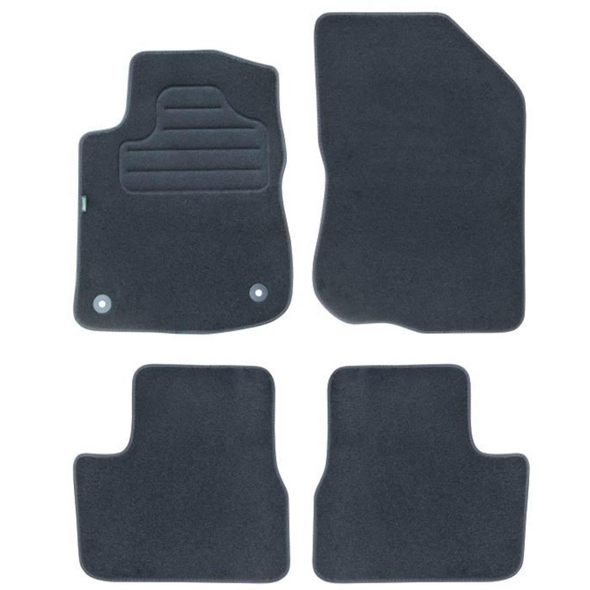 4 tapis sur mesure moquette noire pour Peugeot 208 I 2008 I Feu Vert