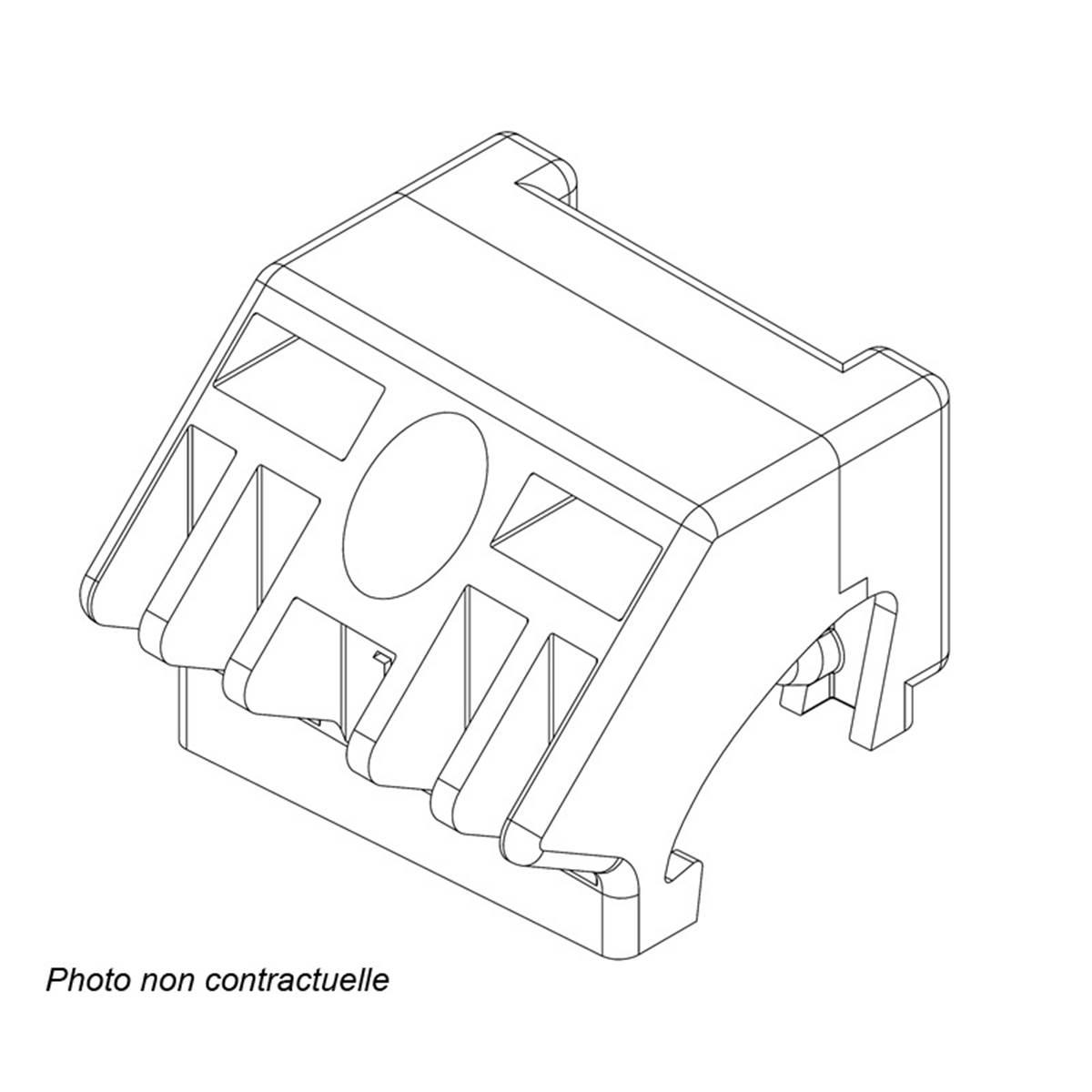 Adaptateur R12 barres prémontées Railing Feu Vert