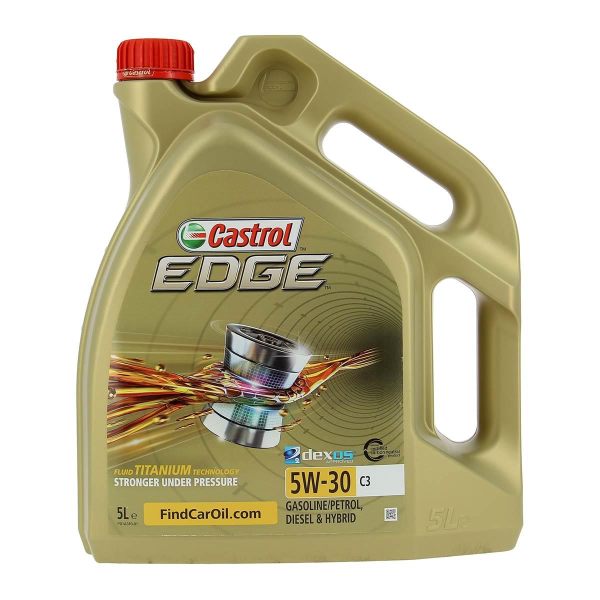 Huile moteur CASTROL Edge C3 Essence/Diesel 5W30 5L