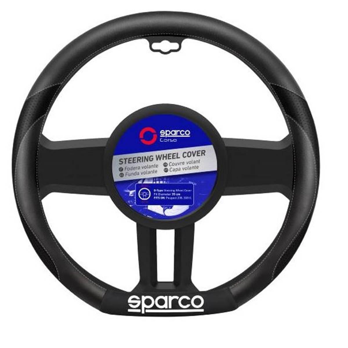 Couvre-volant méplat et liserés gris SPARCO PEUGEOT 208/ 308 II