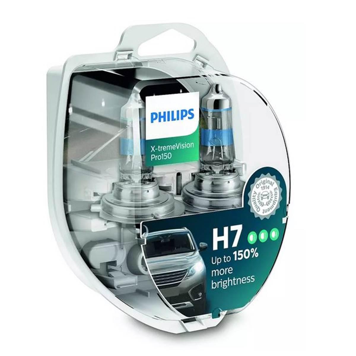 2 ampoules Philips Premium X-treme Vision Pro150 H7