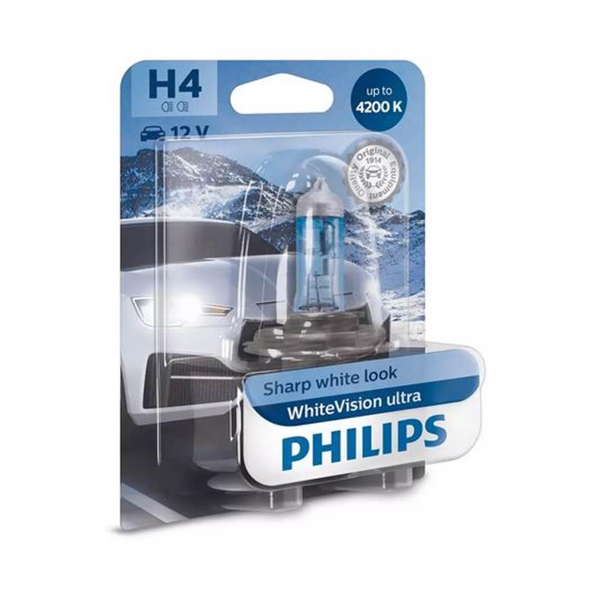 1 ampoule Philips Premium White Vision Ultra H4