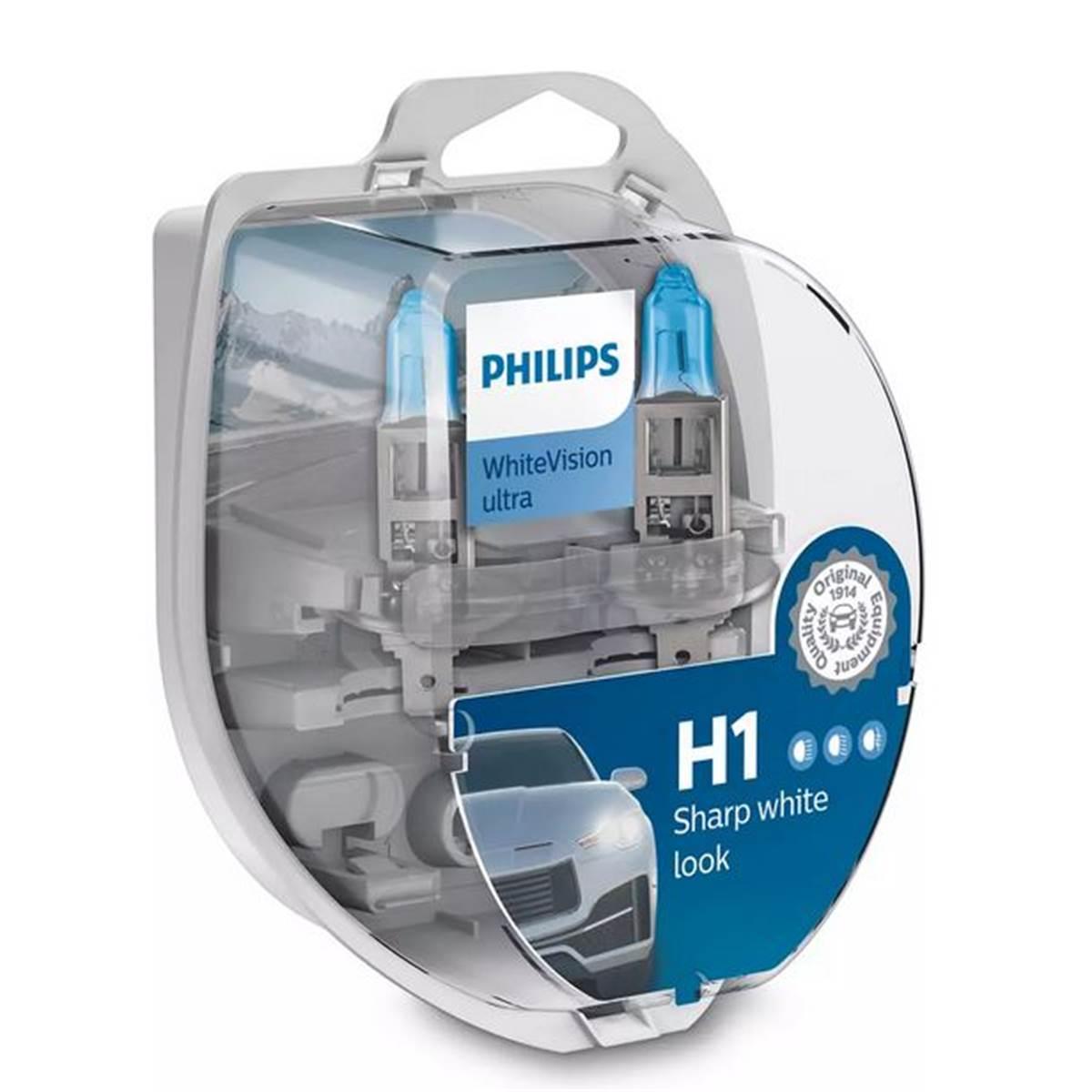 2 ampoules Philips Premium White Vision Ultra H1