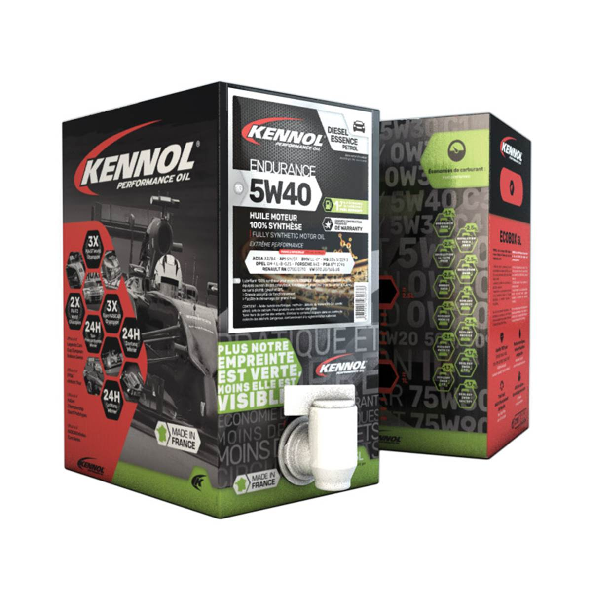 Huile moteur KENNOL Ecobox 5W40 A3/B4 5L