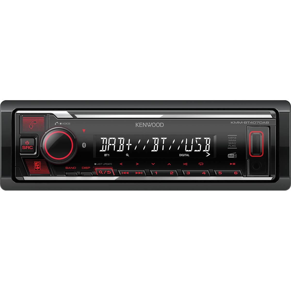 Autoradio KMM-BT407DAB + Antenne DAB+ Kenwood