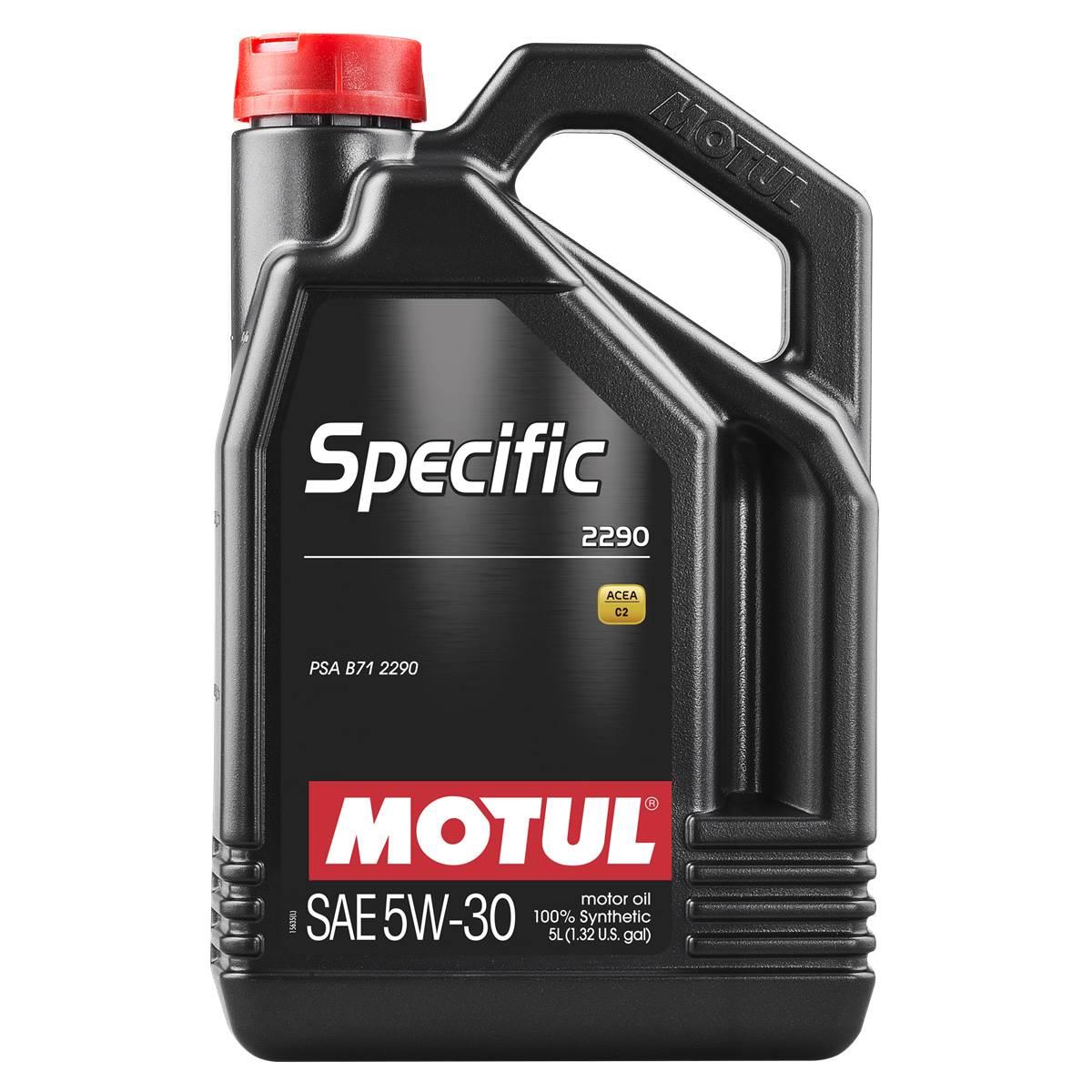 Huile moteur Motul specific 2290 C2 essence et diesel 5W30 5L