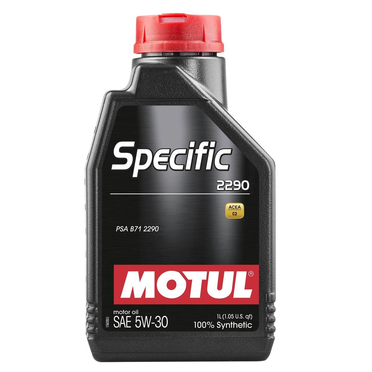 Huile moteur Motul specific 2290 C2 essence et diesel 5W30 1L