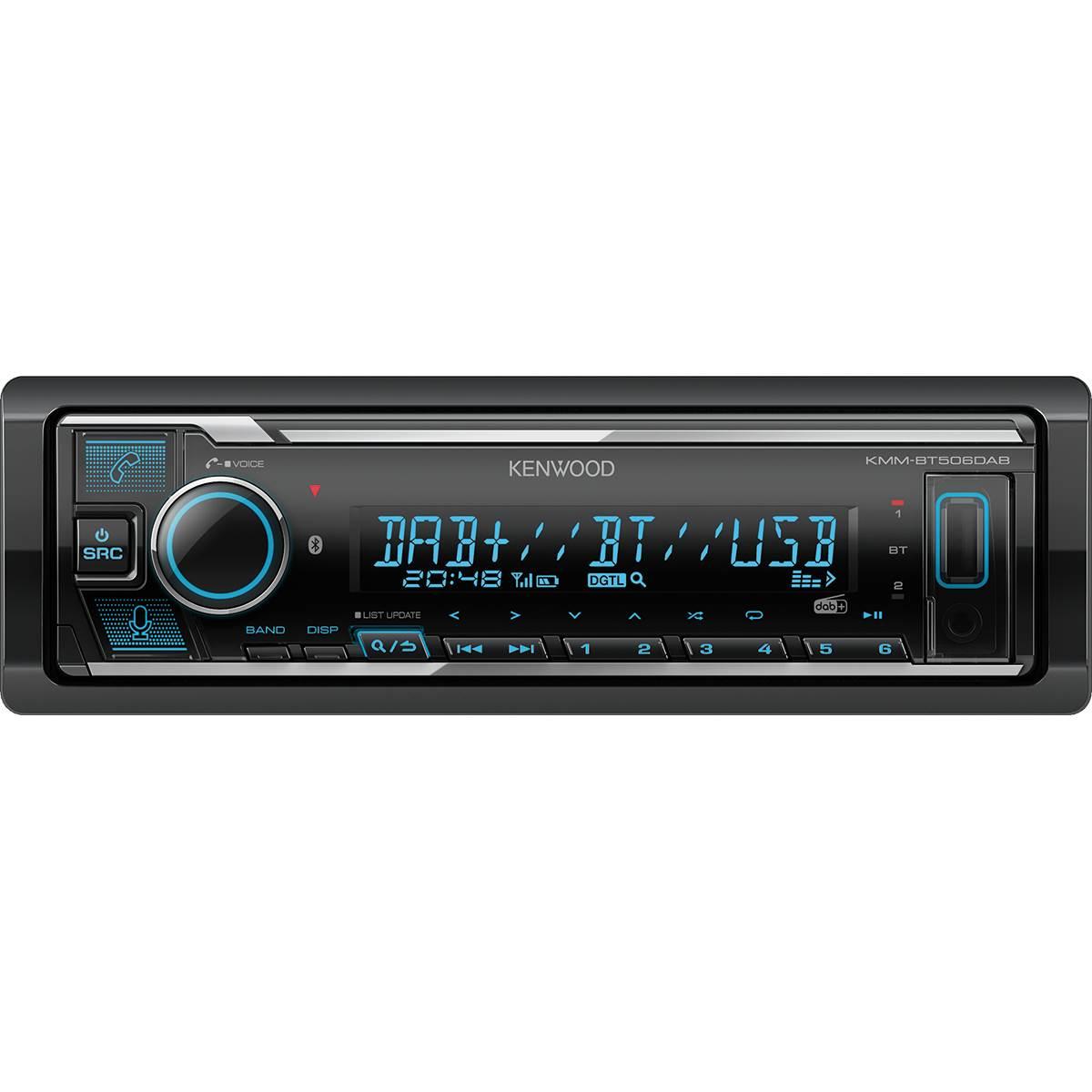 Autoradio KMM-BT506DAB + Antenne DAB+ Kenwood