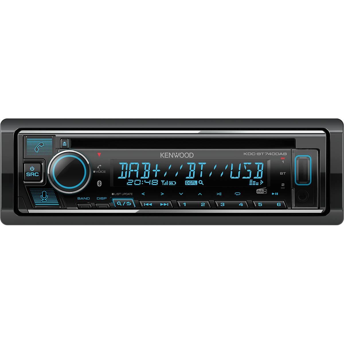 Autoradio KDC-BT740DAB + Antenne DAB+ Kenwood