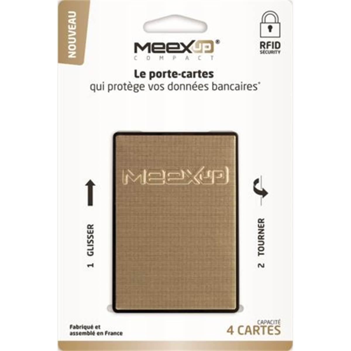 Porte 4 cartes MEEXUP doré sur cartonnette indéchirable