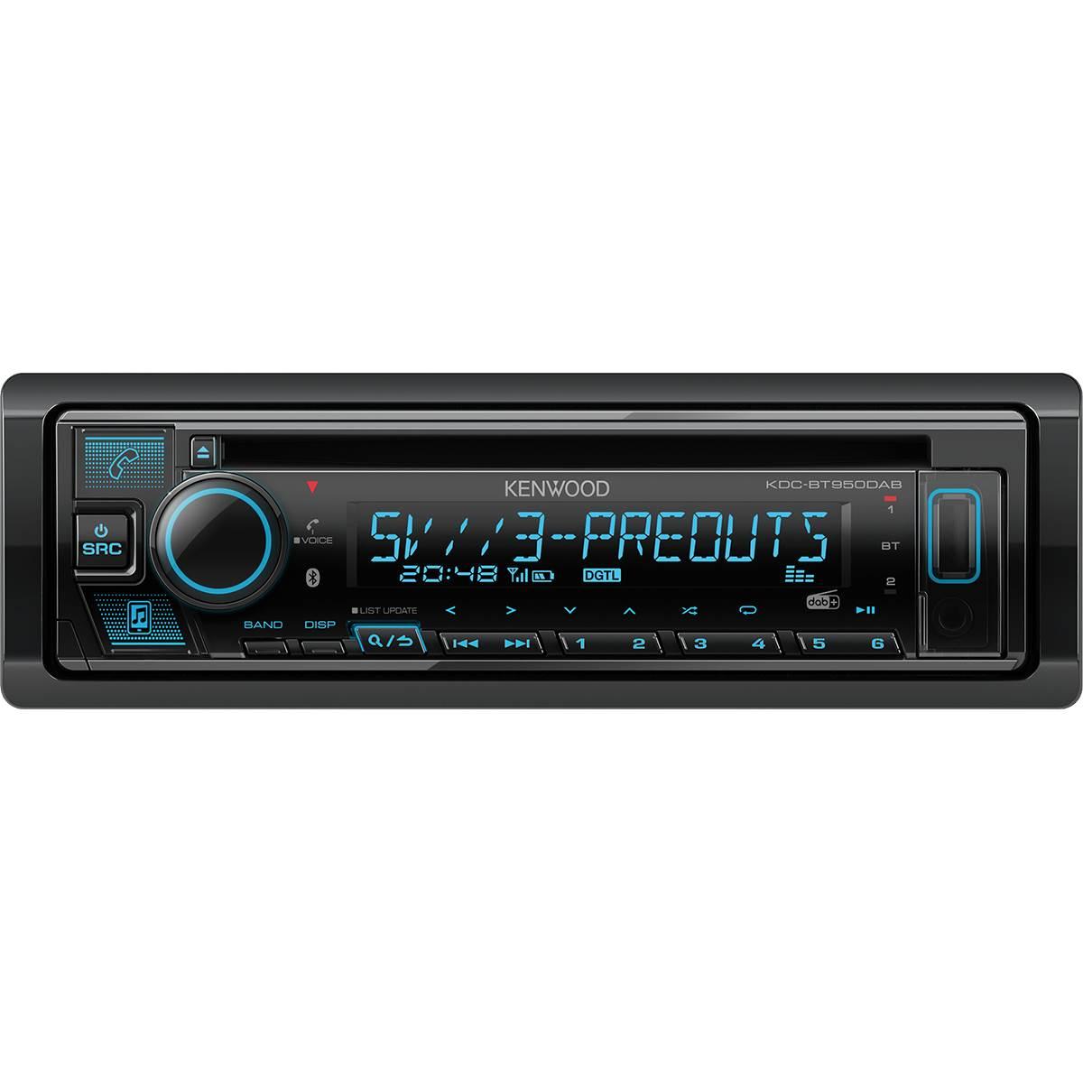 Autoradio KDC-BT950DAB + Antenne DAB+ Kenwood