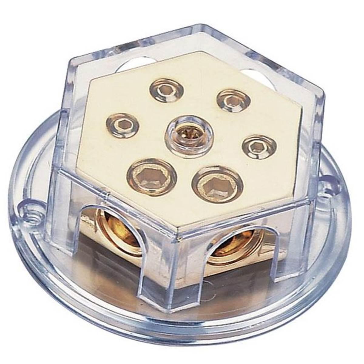 Répartiteur de puissance pour ampli 2 entrées / 4 sorties / prise or
