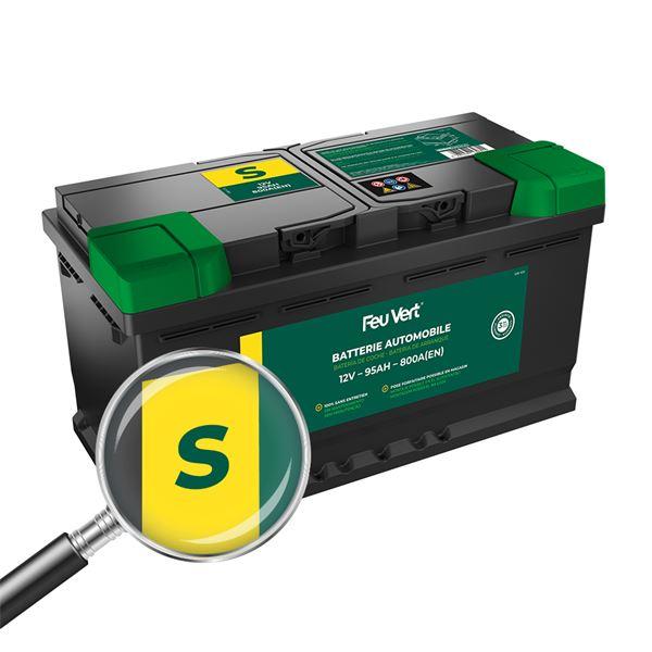 batterie voiture feu vert s 95ah 800a 12v feu vert